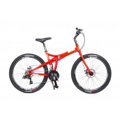 Mosso Marine Vouwfiets 26 inch Aluminium 2D 21v Red/White