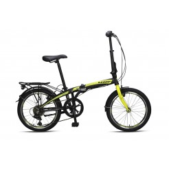 Umit Vouwfiets Folding 20 inch Aluminium 6v Black/Lime